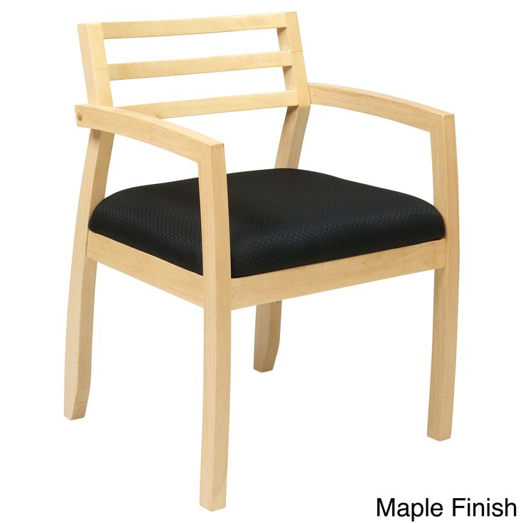 Office Star Products Napa Guest Chair with Wood Ladder Back Design Seat