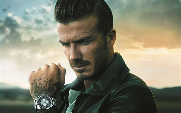 Descargar fondos de pantalla David Beckham, Retrato, futbolista inglés, hombre guapo