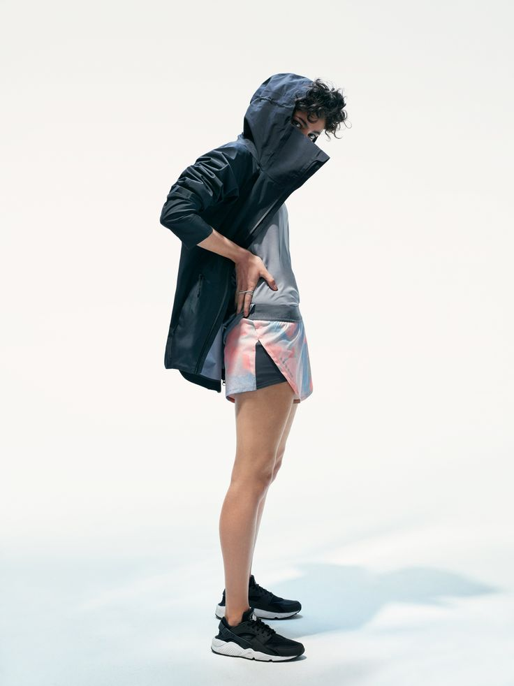 Civil Active Jacket and West 4th Street Printed Shorts. #shorts #print #active #training