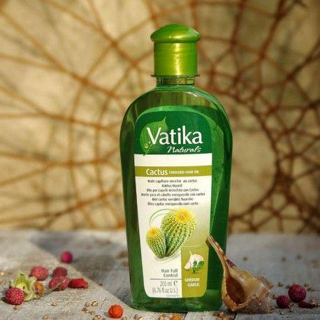 Olejek Vatika z ekstraktem z kaktusa Dabur.  Olejek Vatika Dabur zawiera odżywcze ekstrakty z kaktusa, garger i czosnku.