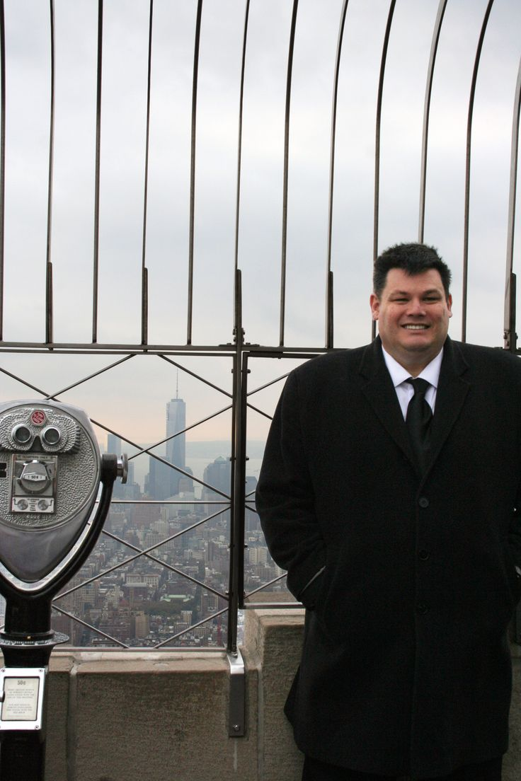 """October 30, 2013: Game show whiz Mark """"The Beast"""" Labbett took a break from filming """"The Chase"""" to enjoy the views of New York City from our 86th floor Observatory."""