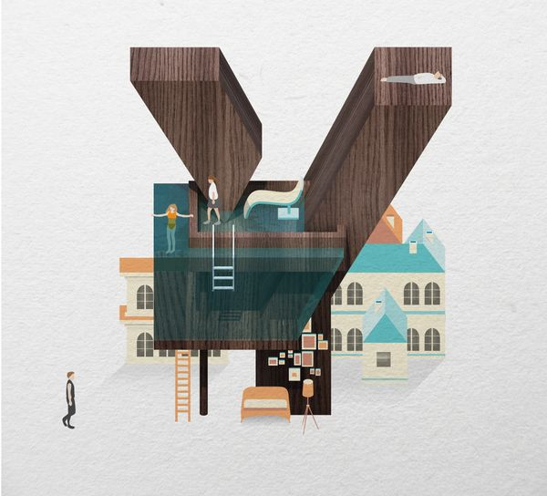 Resort Type by Jing Zhang, via Behance