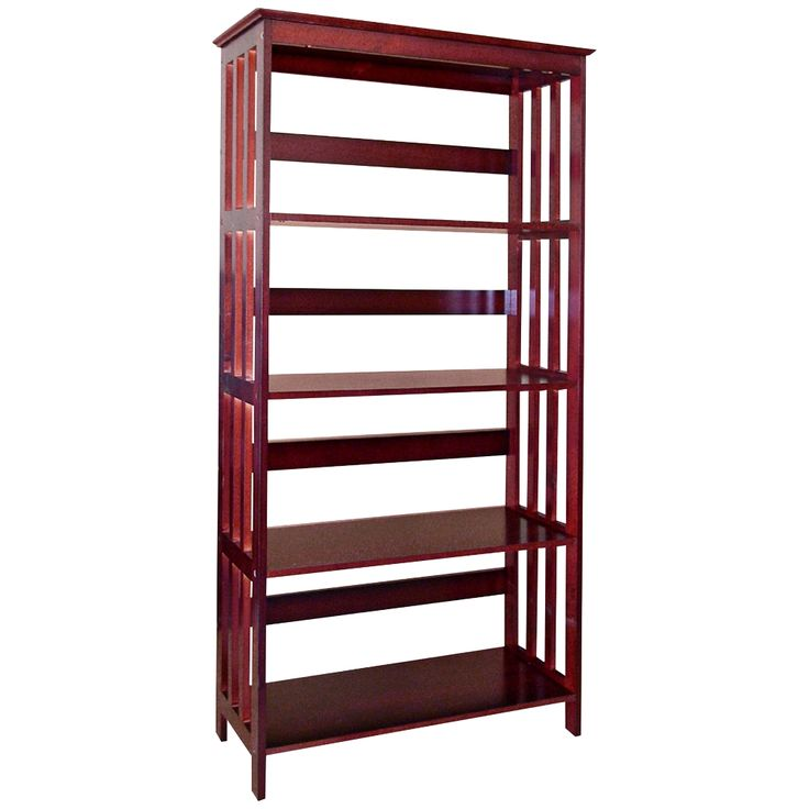 Tolton Mission-Style 4-Tier Cherry Bookcase - Style # 6H592