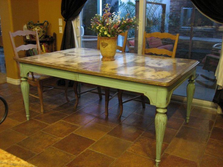 Furniture: Dark Distressed Black Round Dining Table From The Harmony From  The Distressed Dining Table