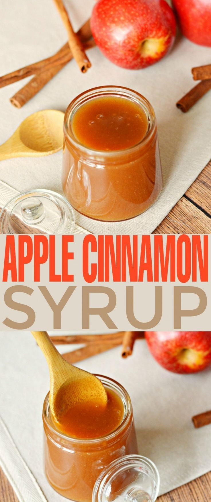This Apple Cinnamon Syrup is fabulous poured over pancakes, waffles, cheesecakes and ice cream. It's a sweet autumn treat that is super versatile as a syrup and sauce.