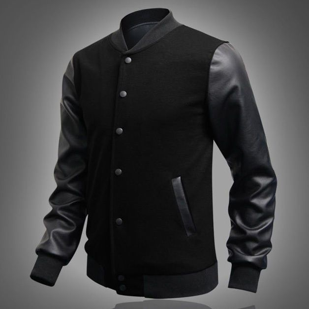 New Mens American Style Varsity Baseball Letterman College Jacket Coat Outerwear #Unbranded #BasicCoat