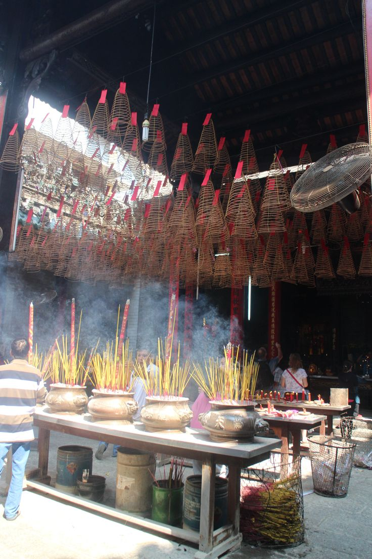 Incense Stick in a chinese temple - Ho Chi Minh City - Vietnam