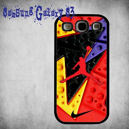 NIKE Jordan Retro 7 RAPTOR Print On Hard Plastic Samsung Galaxy S3, Black Case