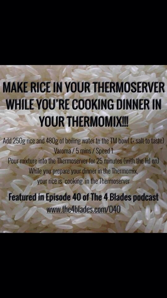 Thermomix rice made in the THERMOSERVER! from @the4blades