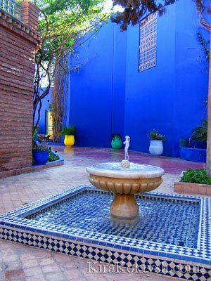 """Majorelle Blue""   The Majorelle Garden - Marrakech (Morocco).  My fantasy garden would incorporate colors and designs found here.  www.jardinmajorelle.com"