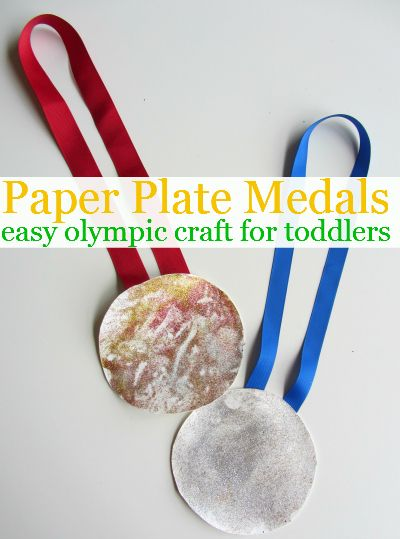 Great Olympic craft for toddlers. Simple and promotes pretend play.  going to do this when I am back to work after my holidays, Steph. :)