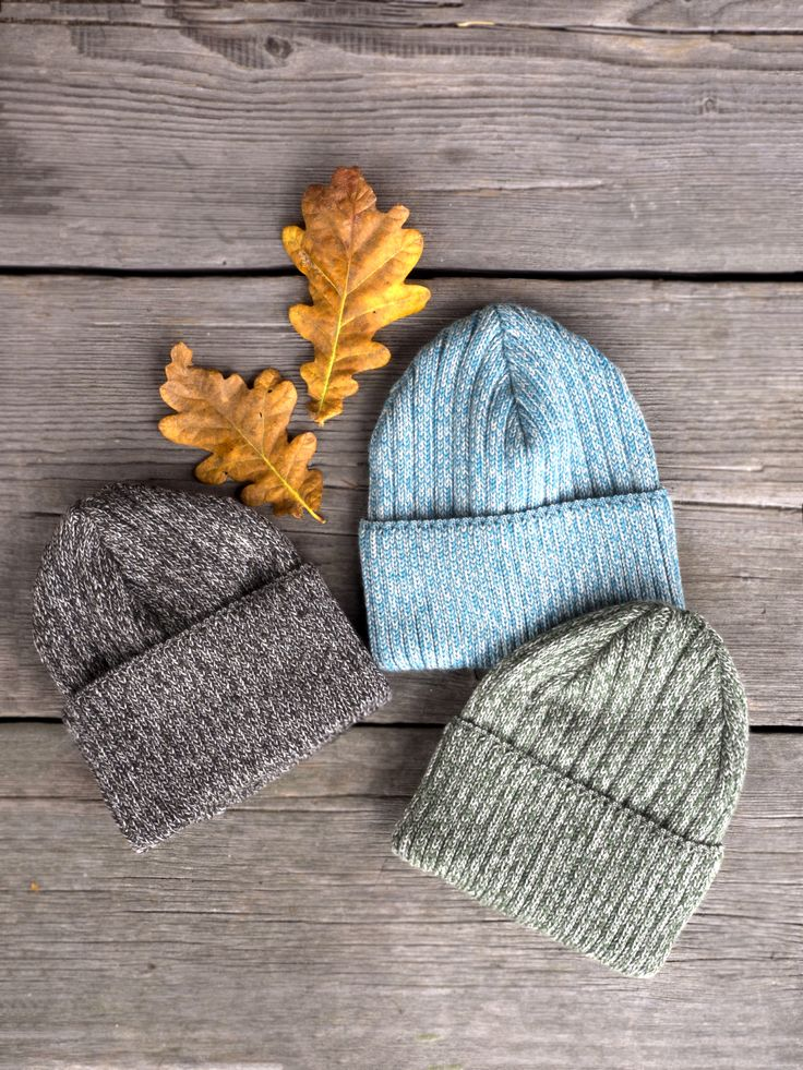 Obo Beanies of merino wool by COSTO for autumn