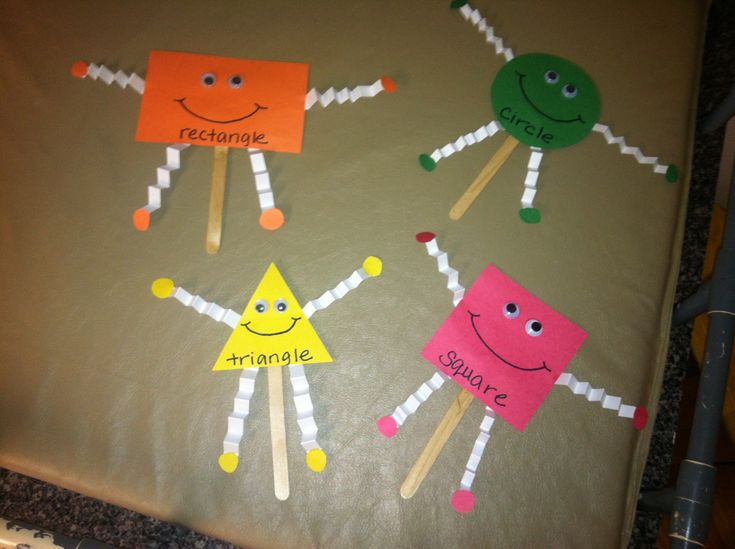 Shape puppets...cute for preschool!  Grades Preschool-K