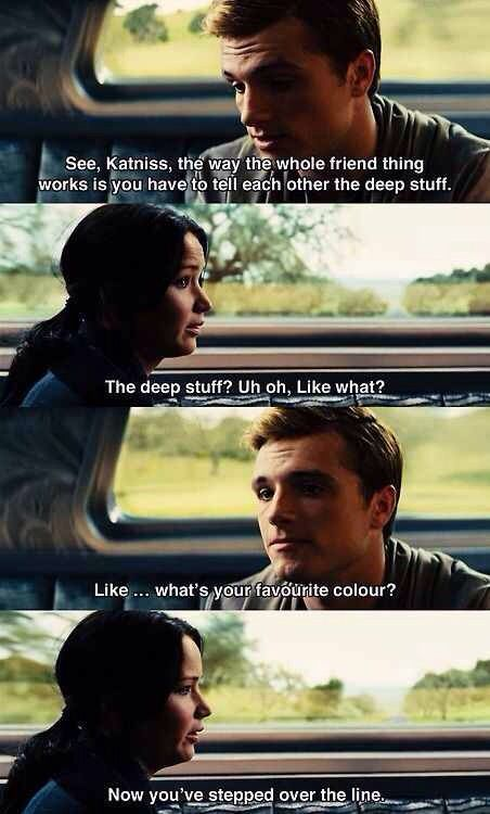 Haha! Catching Fire was a good movie.