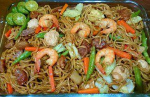 Special Pancit Canton (Chinese Wheat Noodles with Shrimp and Pork)