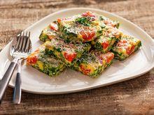 Frittata med tomater og spinat