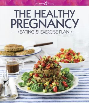 THE HEALTHY PREGNANCY HARD COVER EATING AND EXERCISE BOOOK