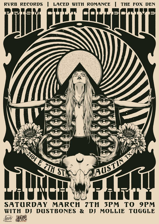 Posters y psicodelia de One Horse Town   Singular Graphic Design