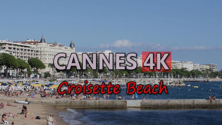 Ultra HD 4K Cannes France Croisette Beach Travel French Riviera Cote d'Azur UHD Video Stock Footage