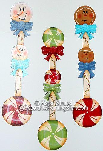 Peppermint Twist Spoon Ornaments Pattern by Karen Strubel
