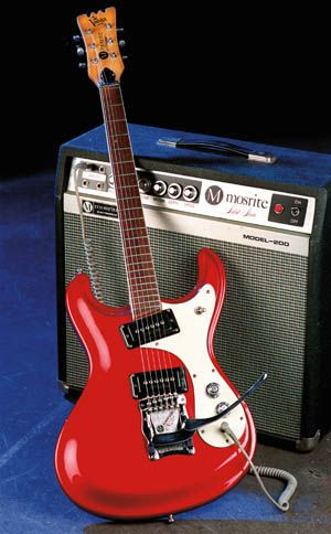 Mosrite Ventures guitar.  I has the Mark IV model and this amp.
