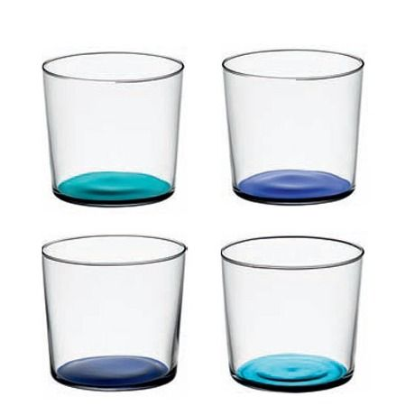 The LSA Coro Tumbler set in lagoon are perfect for everyday dining. The delightful coloured bases give a fun, playful style.