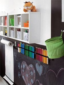 Chalkboard paint seems to be everywhere at the moment. It's not only fun  and great for kids areas, but can also be functional when used in kitchens  or entrances to jot down shopping lists, notes for babysitters or messages  for the family.And with lots of dustless chalk available on the market the  floors don't even end up with chalk dust everywhere!!  I've recently painted one of our outdoor columns in chalkboard paint and  the kids love it. It's been great for writing messages at…