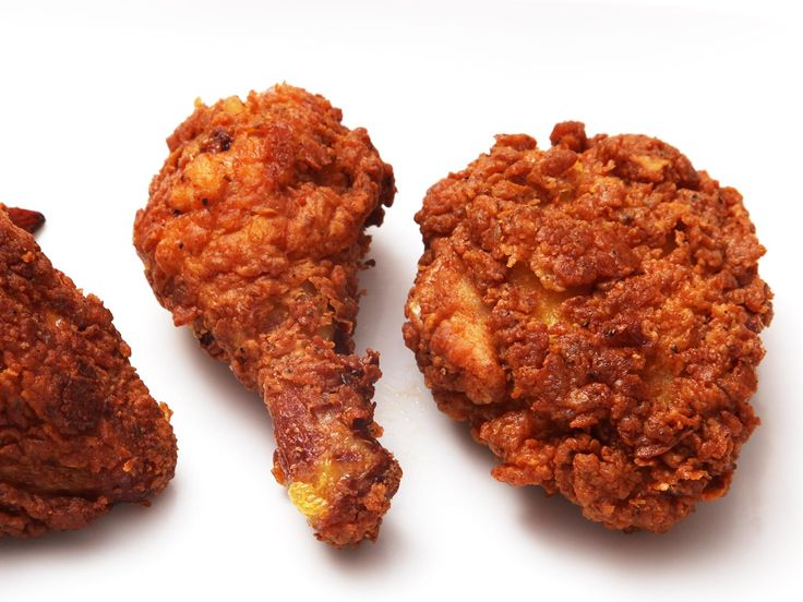Southern Fried Chicken: deep chicken flavor; a flab-free skin; juicy, tender meat; and crisp, spicy coating.