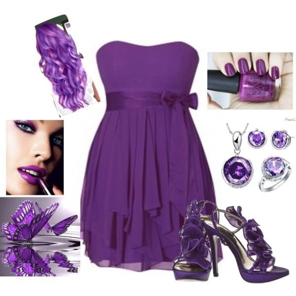 Purple Dress Wedding Fancy Get Together