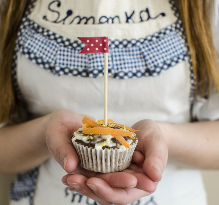 Valentine's carrot muffins