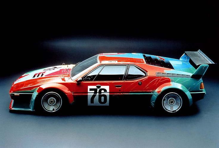 BMW ART CAR s 1979 artist: Andy Warhol car: BMW M1