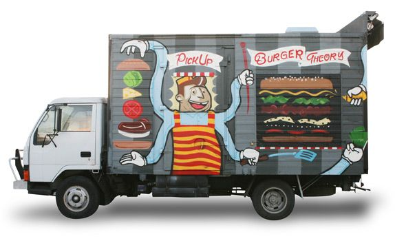 Burger Theory truck - painted by Tooth and Nail - Adelaide, Australia