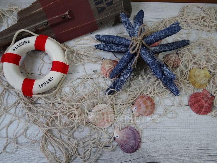 Fishing NET With Shells Nautical Rope Lifebouy Beach Coastal Wall Decor | eBay