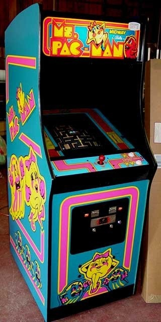 Ms Pacman! Arcades totally ruled the 80s @Janel Erikson Kauffman Kids Rule