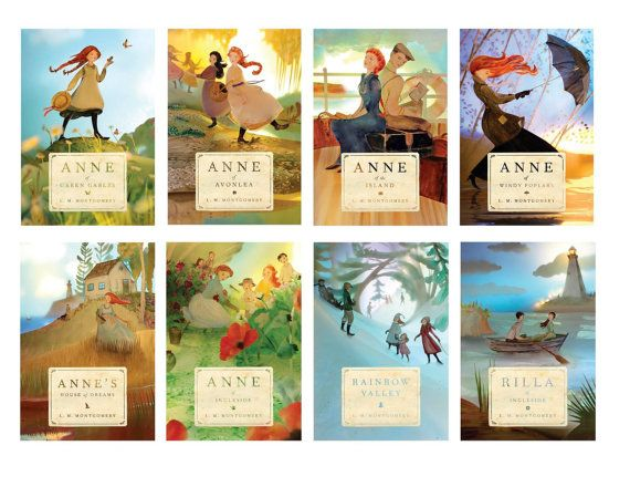 Anne of Windy Poplars large print - cover 2014 edition by Elly MacKay *This listing is for a print of the cover of Anne of Windy Poplars (without