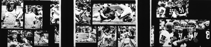 Photographer/Creator  Gary Settle  Collection  1969  Publisher  New York Times  Caption/Description  Photographer says, 'All this sequence was made on one play, in which Chicago Bear star defense back Dick Butkus displays several facets of his intimidating manner.'