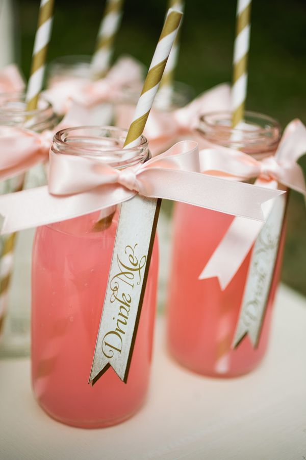 """Drink Me"" tags, photo by Matt and Ashley Photography http://ruffledblog.com/whimsical-wonderland-shoot #weddingideas #drinks"