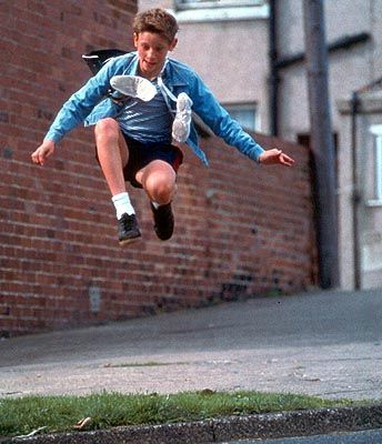 Billy Elliot con sus zapatillas de baile.