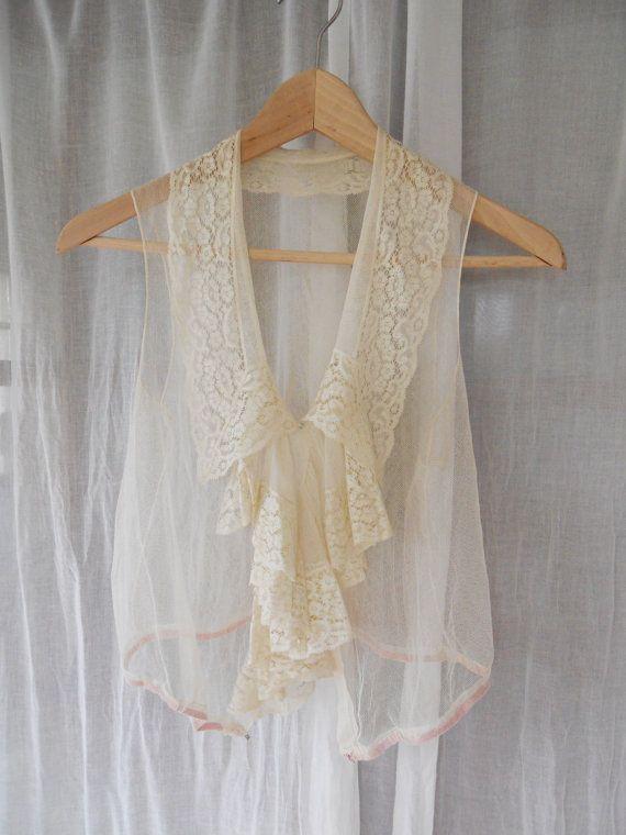 Edwardian lace and ruffled blouse.