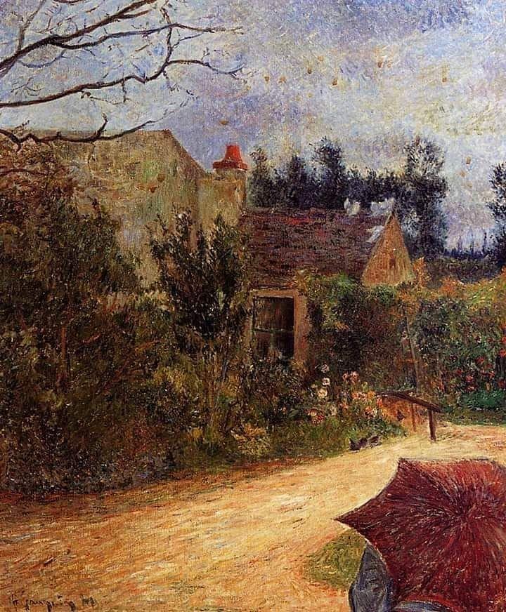 Marcio Frota On Instagram Paul Gauguin French 1848 1903 Pissarro S Garden At Pontoise 1881 Paul Gauguin Post Impressionists Gauguin