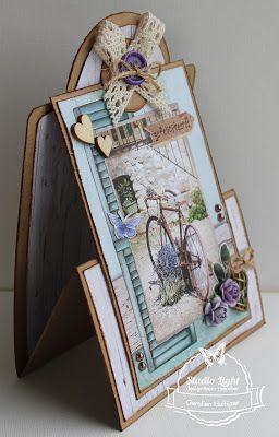 Z fold card La Provence gemaakt door Geralien Hoftijzer