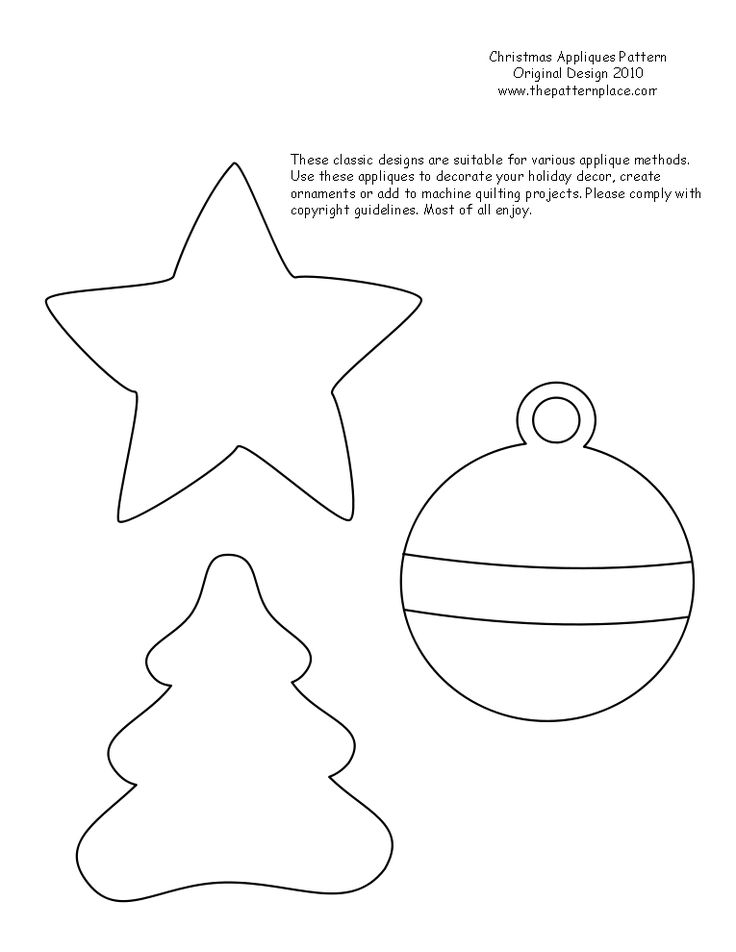 Printable Christmas Ornament Patterns | The Pattern Place Blog: Free Patterns