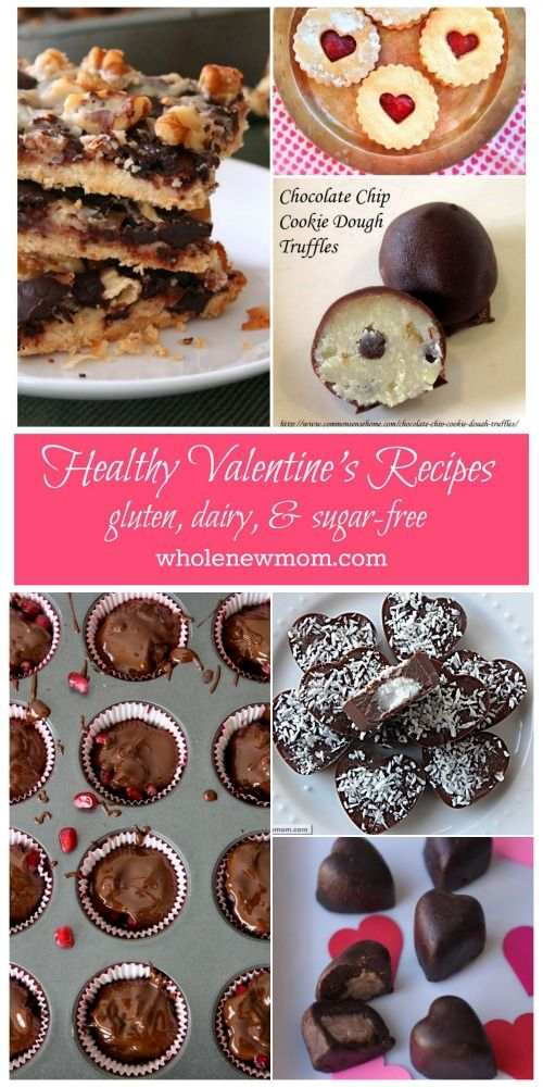 Most of these are GRAIN FREE!  Healthy Dessert Recipes - Perfect for Valentine's Day.