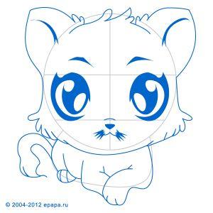 Jak nakreslit kočičku Jak nakreslit kreslené postavičky. Jak nakreslit krok za krokem