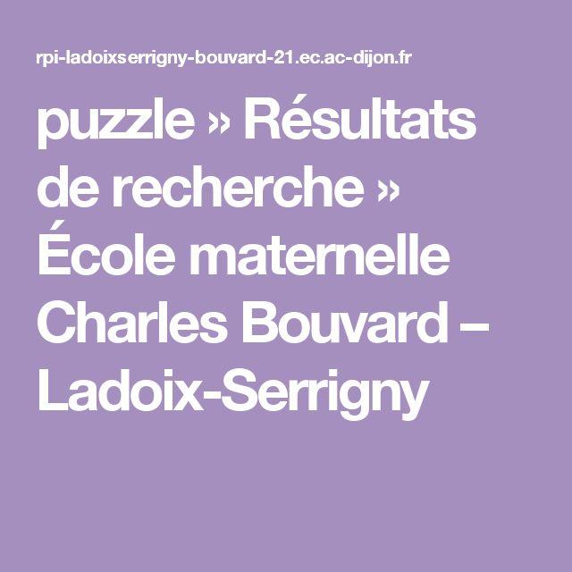 puzzle » Résultats de recherche » École maternelle Charles Bouvard – Ladoix-Serrigny
