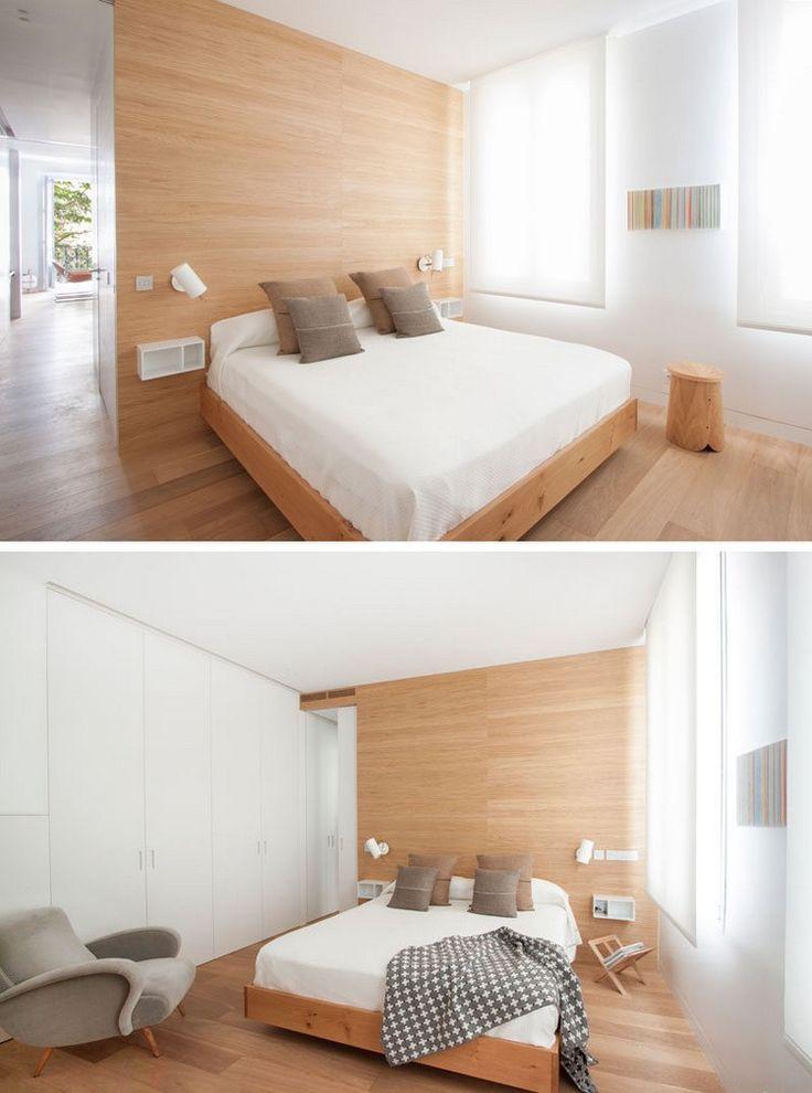 schlafzimmer design mit hellem holz bei der einrichtung. Black Bedroom Furniture Sets. Home Design Ideas