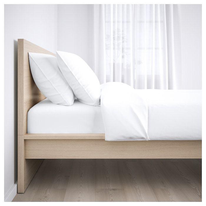 Malm Bettrahmen Hochweiss Gebeiztes Eichenfurnier Luroy Ikea Malm Bettrahmen Hochweiss Gebeiztes Eichenfurnier Lu In 2020 Malm Bett Eichenbetten Schlafzimmermobel