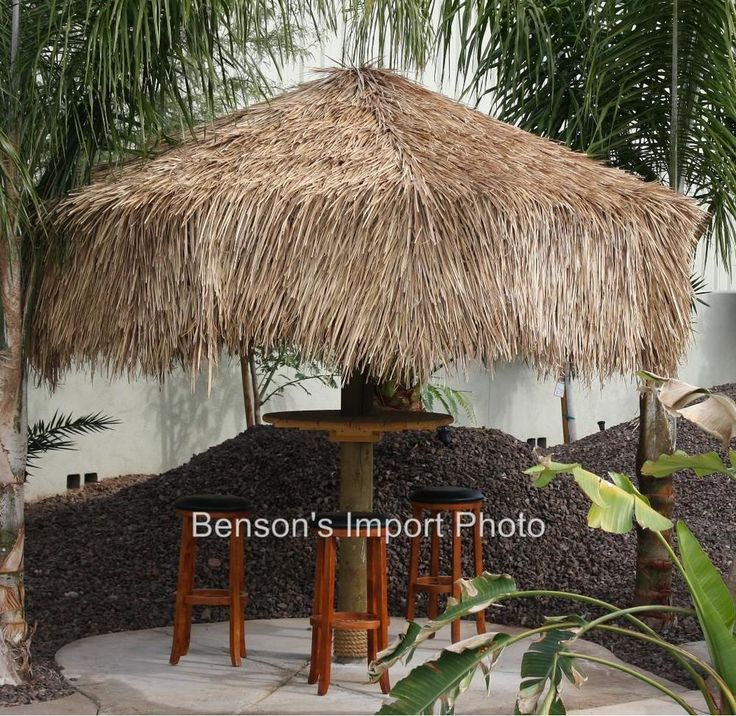 Thatch 9 1 8 Round Palm Palapa Umbrella Cover Premium Grade Tiki Bar Luau 506 Tropical Other That I Love Pinterest Palms And