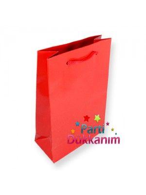 Kırmızı Kağıt Çanta (17x24 cm)