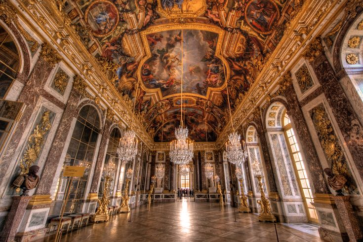Versailles Hall of Mirrors HDR - Read more: http://www.travelcaffeine.com/versailles-hall-of-mirrors-hdr/